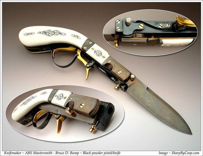 Black Powder Pistol/Knife - ABS Mastersmith - Bruce D. Bump