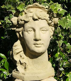 Head Shaped Planters for Sale, Including Stone Sculptures, Humorous Faces, Greek Goddess Busts and Ceramic Buddha Head Flower Pots...