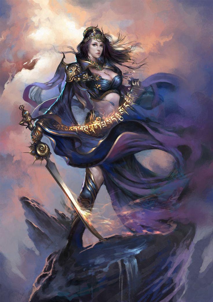 407 best images about fantasy art warriors hunters on - Fantasy female warrior artwork ...