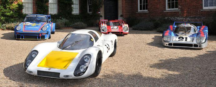 Porsche 907, 917s and 934 at Porsche Classics at the Castle 2012 via SportsCarDigest: http://www.sportscardigest.com/porsche-classics-at-the-castle-2012-report-and-photos/#