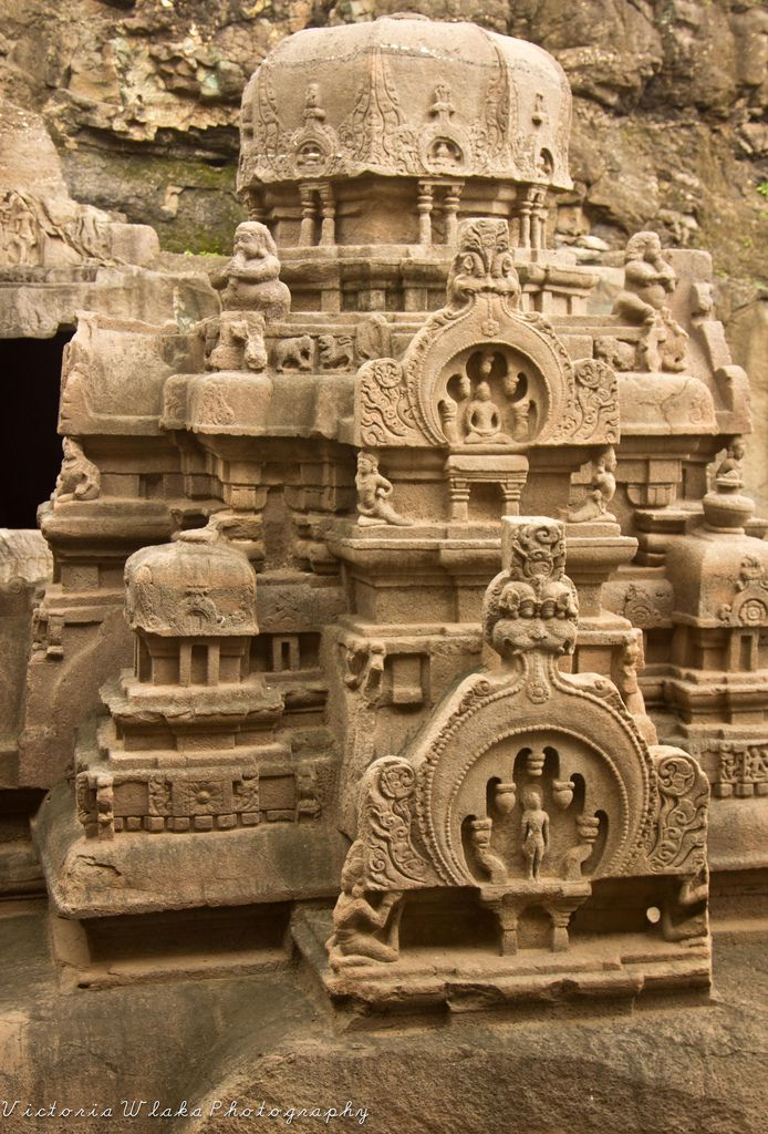 Jain Temple at Ellora Caves,  Maharashtra, India