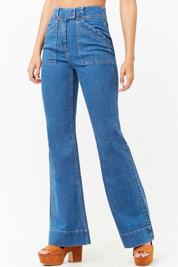 Forever 21 High Rise Flare Jeans Pantalones De Mezclilla Ropa Conjuntos De Ropa