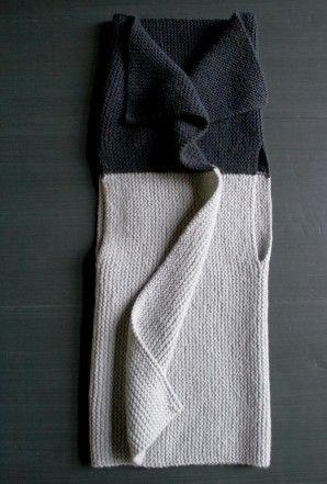 Sideways Garter Vest | The Purl Bee #Knit #Pattern #Free
