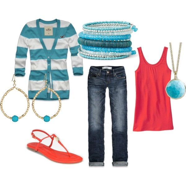 Coral & Turquoise-