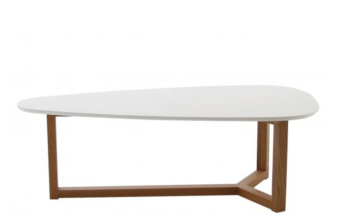 table basse bois/blanc