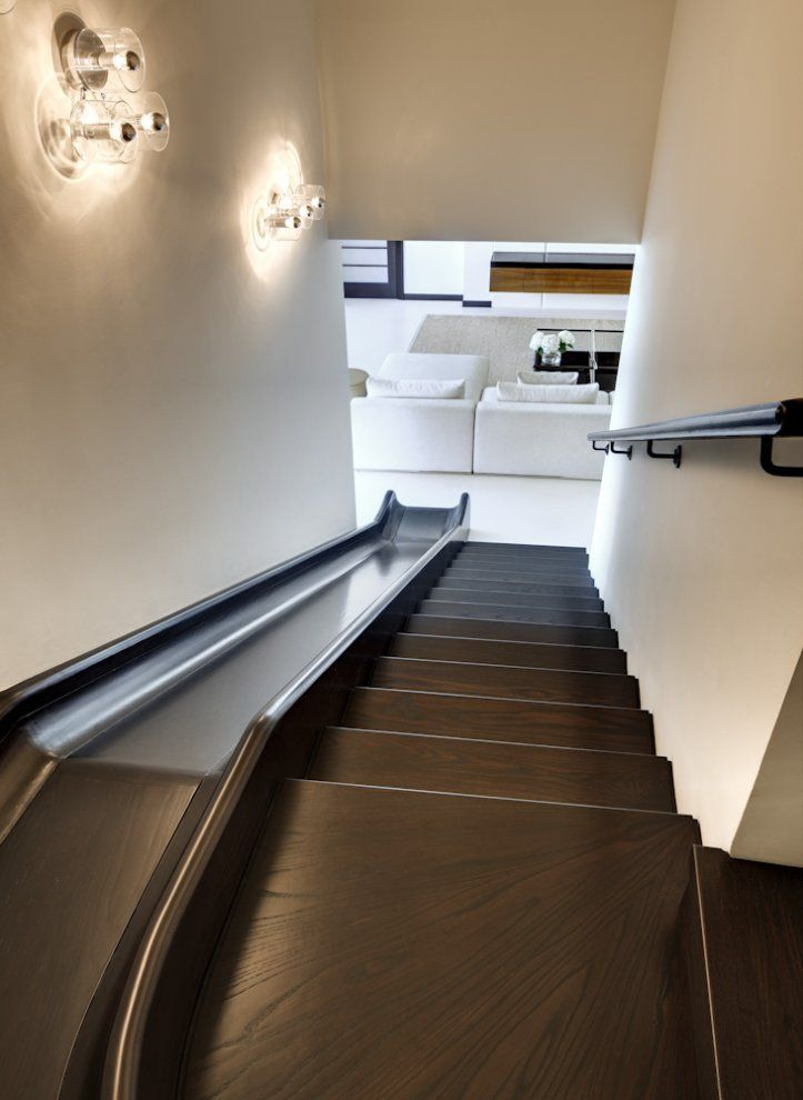 Indoor Oak Slide...so Cool And It Looks Nice Too! If We