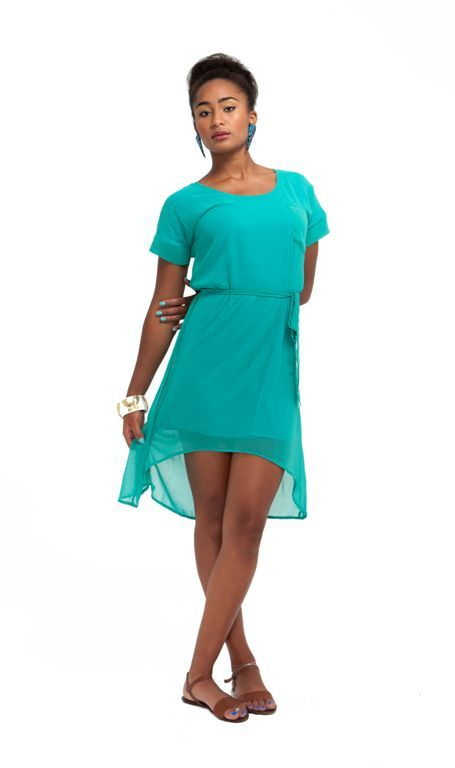 Chiffon hi-low dress by Crave