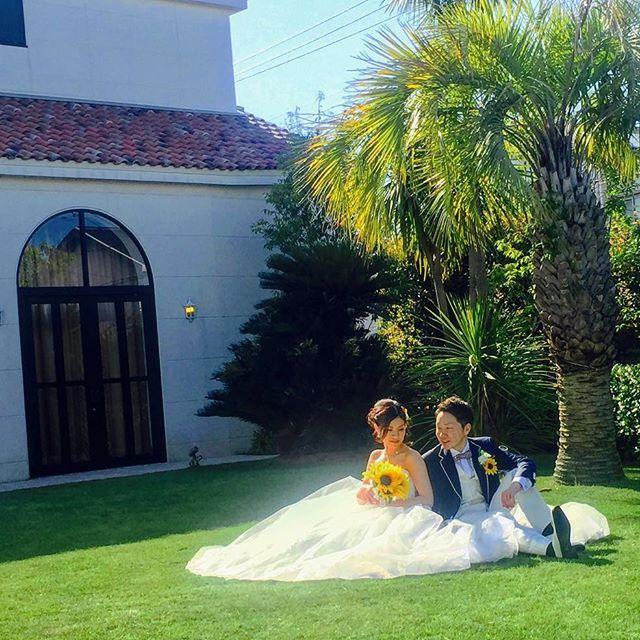 パーティー会場には  貸切のガーデンが♪    緑は白を綺麗に写します    ッと上がります♪    #つくば #結婚式 #ゲストハウス #リゾート #wedding #花嫁 #fiorebianca #結婚式場 #つくば市 #茨城県 #ディアステージつくばフォレストテラス #プレ花嫁 #卒花嫁 #リゾート婚 #チャペル #オシャレ婚 #全国の花嫁と繋がりたい #結婚 #自然光 #海外 #人気 #写真好きな人と繋がりたい #バージンロード #ウエディングシューズ #外国風 #ガーデン #ひまわり