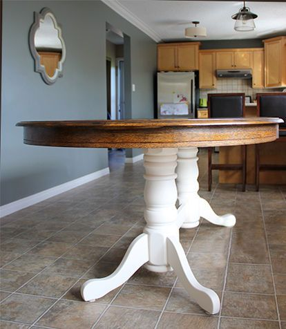 78 best ideas about oak table on pinterest dining table chairs white chairs and oak table and Restaining kitchen table