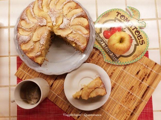 Torta alle mele frullate e yogurt senza burro