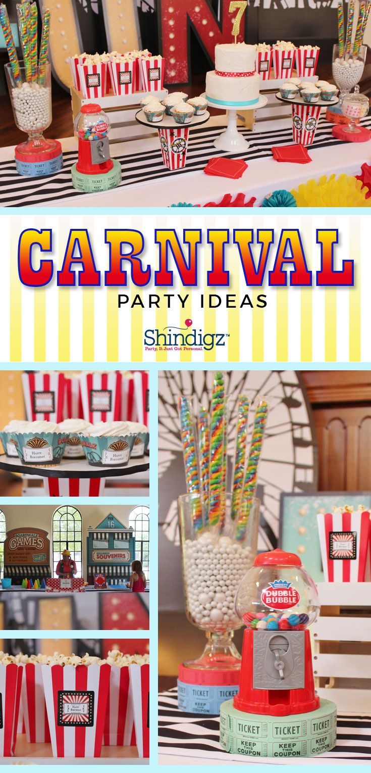 @crowningdetails celebrated summer with our Vintage Boardwalk theme and an array of fun carnival games, colorful standees, & tasty treats! See all the details & more on our party ideas blog!