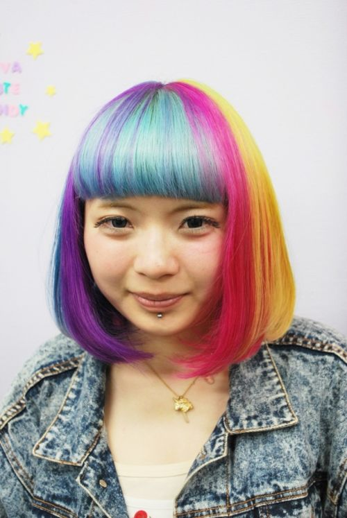 hair styles pictures 203 best rainbow hair collection images on 8640