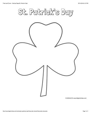 how to draw a three leaf clover