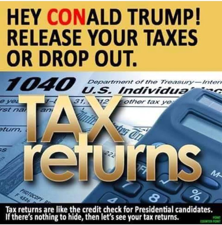 Trump demanded tax returns from all his Republican opponents, all his potential running mates, Mitt Romney in 2012 and Obama's birth certificate. He promised he would release his returns at a time when he was well aware that he was being audited, which doesn't preclude him from releasing. It didn't when Trump was under audit and applied for licenses for his casinos. It didn't prevent Nixon from releasing his. Even still, Trump could release returns from other years, IF he has nothing to…
