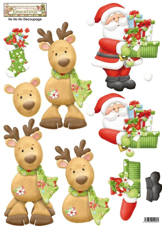 Christmas Santa & Reindeer. ~  ☆ I LOVE PAPER TOLE!  IT TAKES SOME TIME, BUT IT IS SOOO WORTH IT IN THE END!!!  ★A