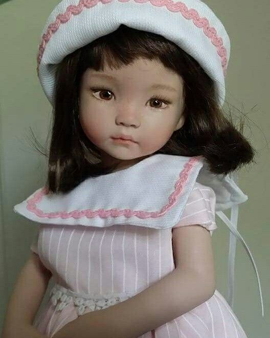 Bambola in porcellana. LCD dolls (da stampo Dianna Effner. ) #dollfashion #dolls #porcelaindolls