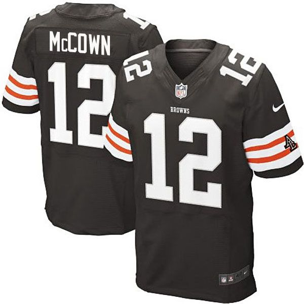 game used football jerseys browns 12 josh mccown white elite men jersey mens cleveland browns jim br