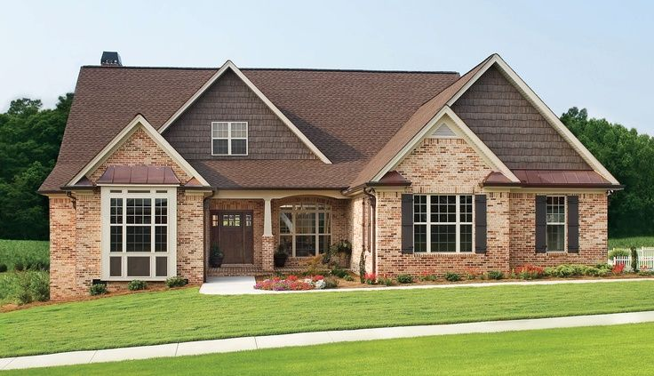 Cedar siding with brick google search paint brick for Cedar siding house plans