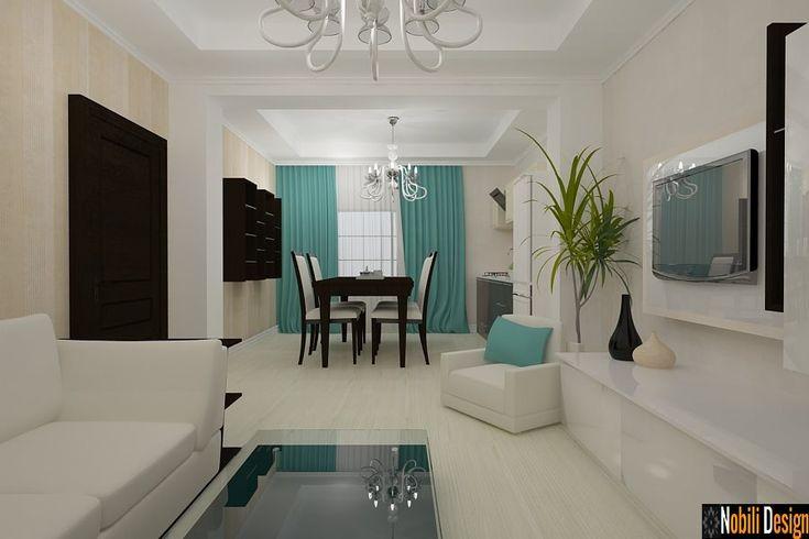 Design interior living dormitor vila moderna