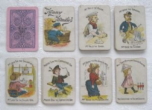 """Victorian or Edwardian """"Funny Families"""" (Happy Families) card game, c.1880-1910 (SOLD)"""