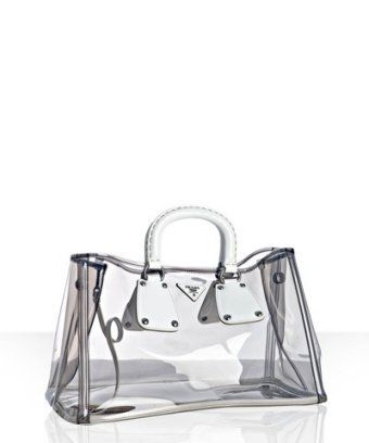 red prada purse - prada white transparent medium pvc tote Prada White Transparent ...