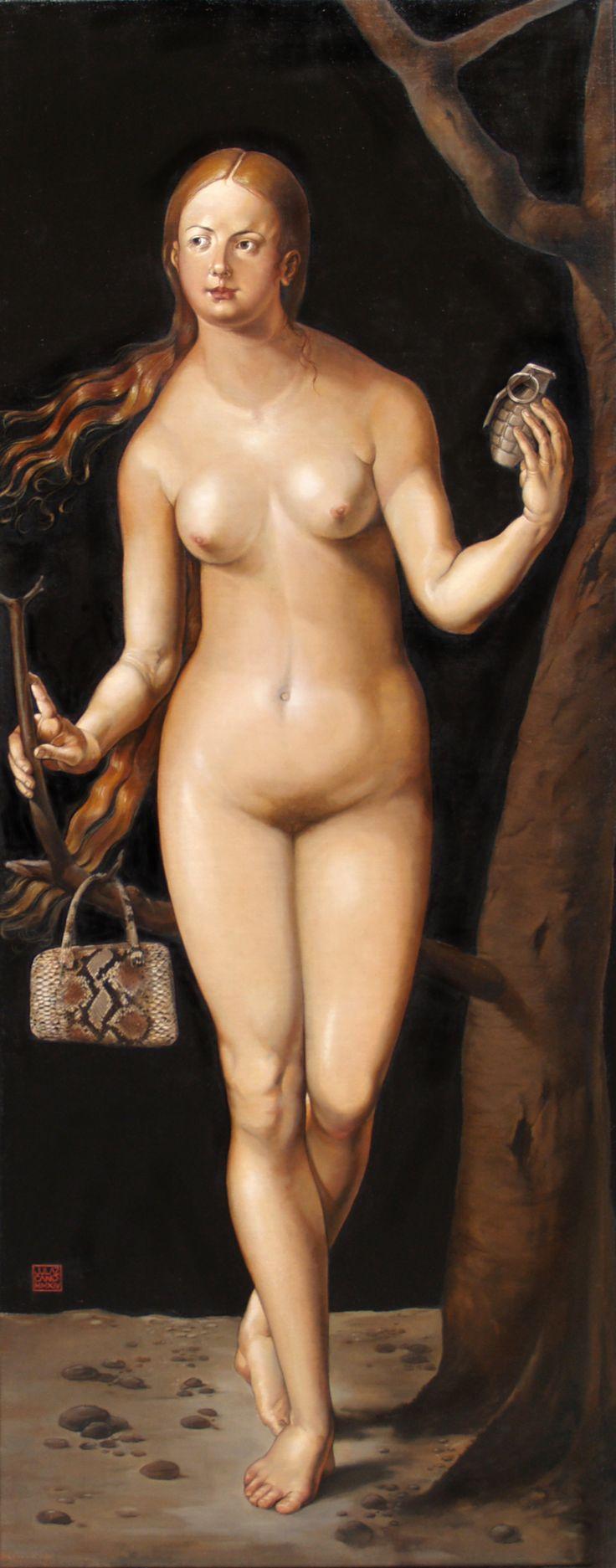 Eva oleo-arpillera-tabla (70 x 182)cm.