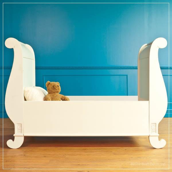 Bratt Decors Chelsea Toddler Bed Conv Kit White Baby Nursery Crib