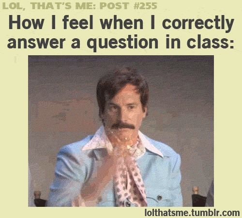 How I feel when I correctly answer a question in class (gif)