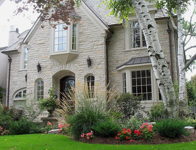 Another example of Indiana Limestone for a house.  I love the clean lines and thickness of the walls.