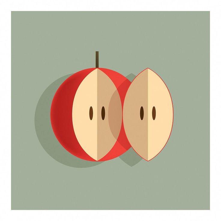 A Couple of Apple. . . . .  Visit portfolio at www.andrebrik.com. . . .#art #artwork #artcollectors #artoftheday #artgallery #artofinstagram #arte #brazil #color #contrast #contemporaryart #decor #design #fineart #graphicart #humour #illustrator #instaartist #instaart #latinart #graphicart #humour #modernart #popart #popsurreal #painting #poster #polishposters #print #stilllife #surrealism #apple