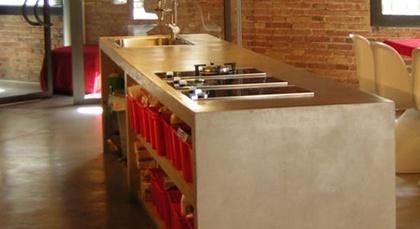 #cocinas Encimeras de microcemento para la cocina #madrid