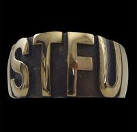 New Listing Started Bronze Shut The F**k Up Letter Ring NZ$24.00