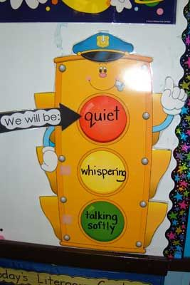 I really like this idea for the younger grades. I am a big fan of students working with others, because I believe that is when you learn best. But there are times when it needs to be independent work and I think this is a great way to monitor the noise level in the classroom.