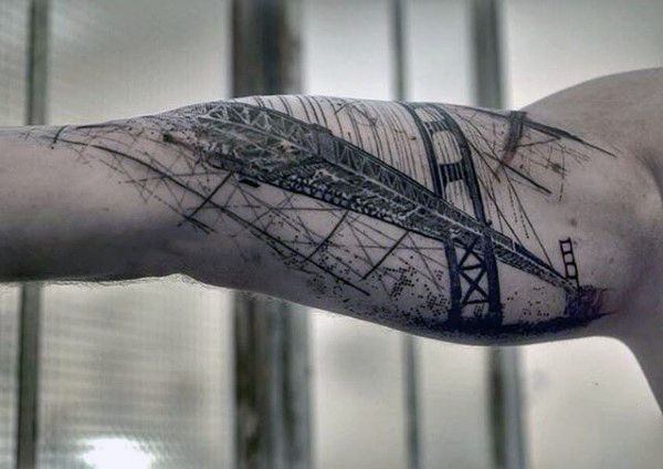 60 Golden Gate Bridge Tattoos For Men