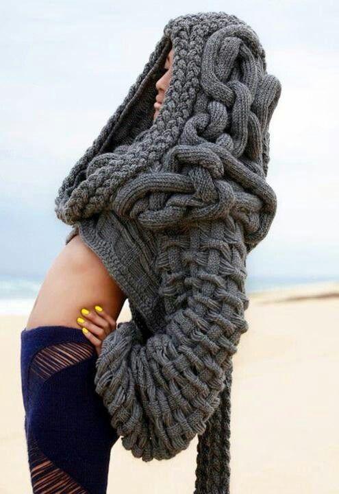 .Chunky knit