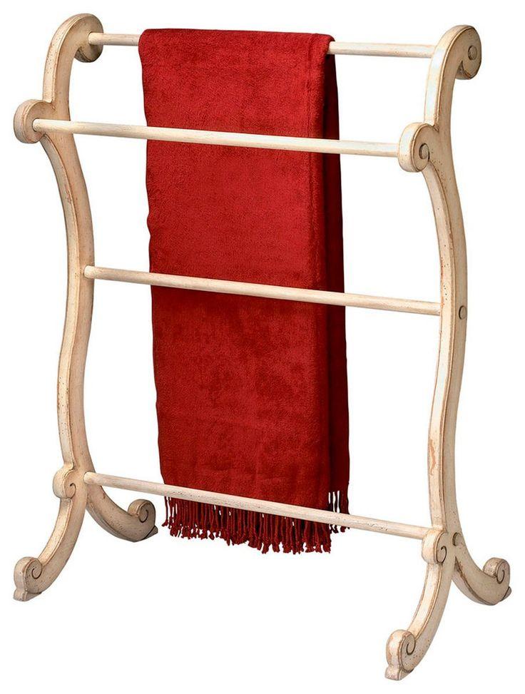Brittany Traditional Blanket Rack Beige