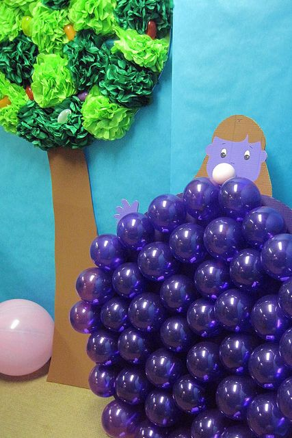 Violet Beauregarde by a. modern home, via Flickr-Awesome party theme. Each character can b made into a game.