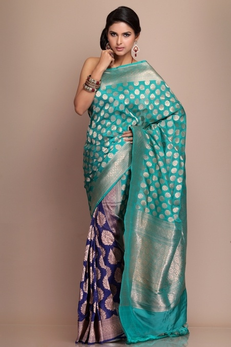 Banarasi Brocade Patli Silk Saree