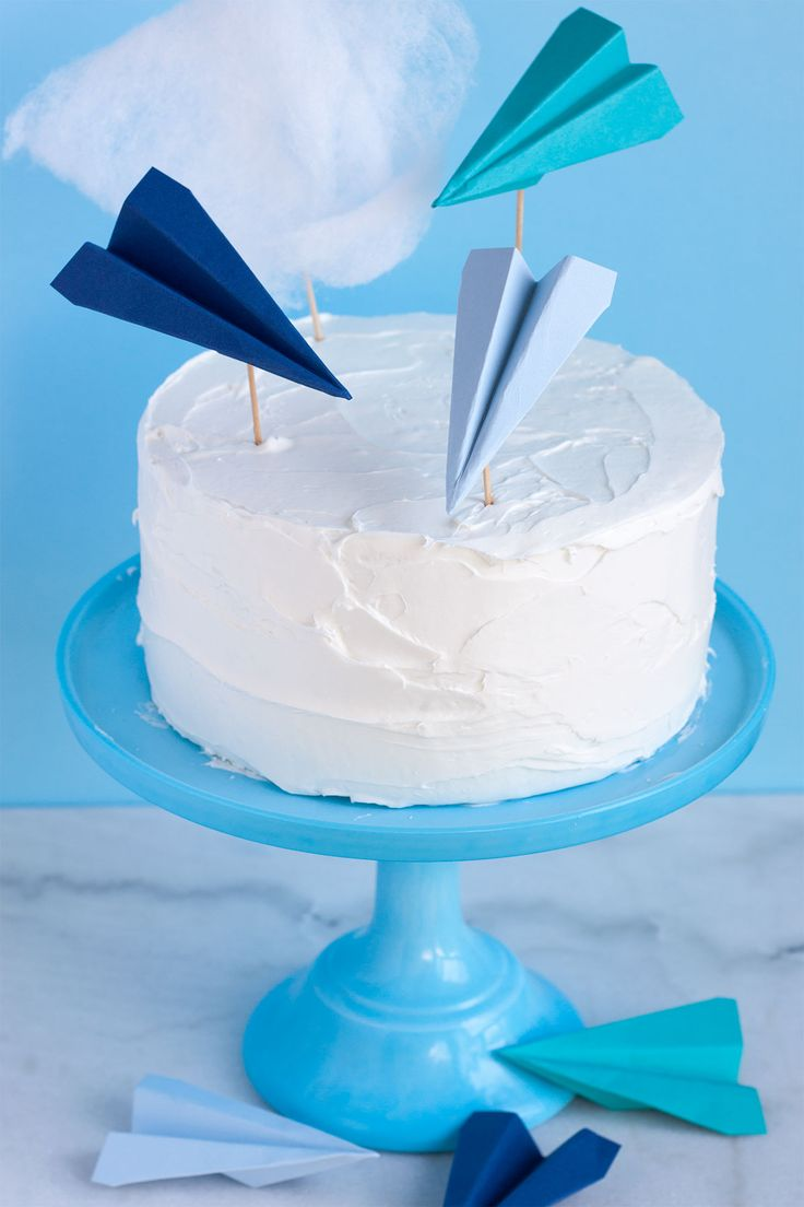 Paper Airplane Cake Toppers