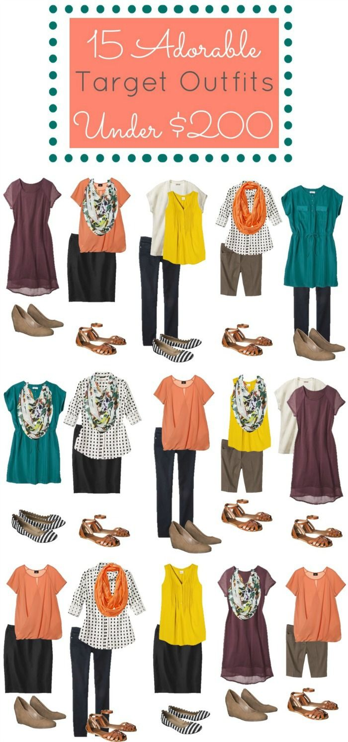 Fashion doesn't have to be expensive!  Check out these 14 items from Target you can use to create 15 amazing outfits for under $200!