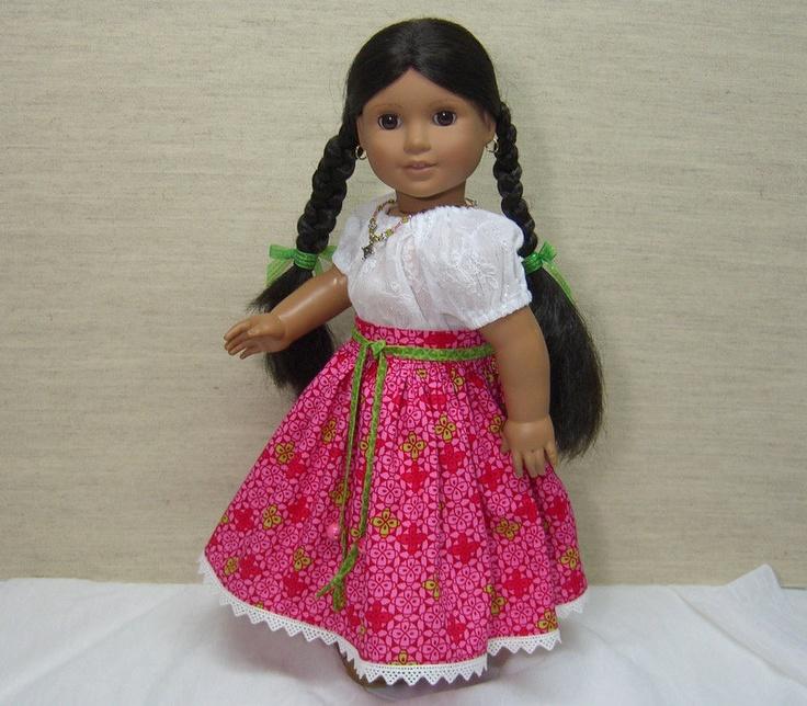 Josefina Birthday Dress: Hot Pink Skirt, White Gauzy Peasant