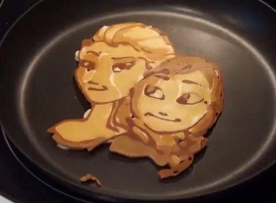Disney Princess pancake art