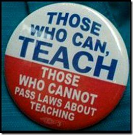 Those who can, teach. Teacher humor.