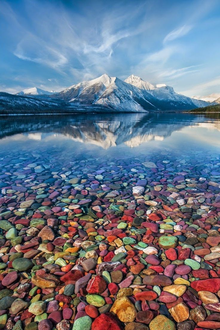 Mountain Jewels - Lake McDonald, Glacier National Park, Montana  by Perri Schelat  Glacier National Park is a national park located in the U.S. state of…  -  Alejandro Patrone - Google+