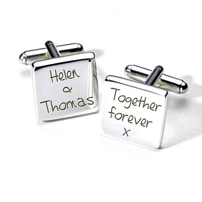 Aye Do Ltd - A2WED004 Personalised Forever Cufflinks (ss), £19.99 (http://www.ayedoweddings.co.uk/a2wed004-personalised-forever-cufflinks-ss/)