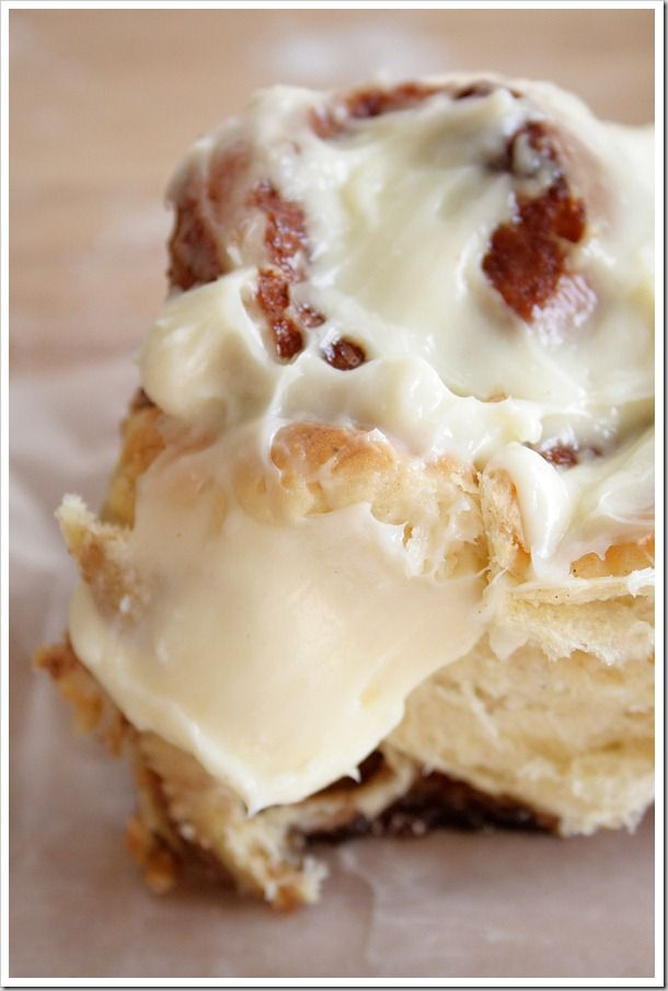 Cinnamon Raisin Buns with Cream Cheese Frosting