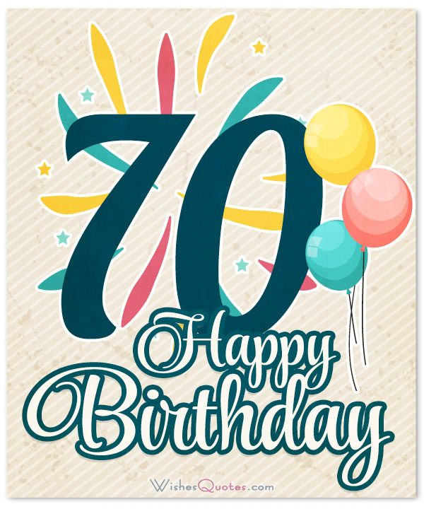Happy 70th Birthday Card Messages