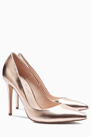 Buy Rose Gold Signature Point Court Shoes from the Next UK online shop