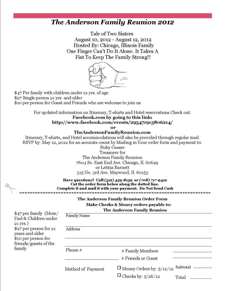16 best images about Family Reunion on Pinterest Family reunions - Event Registration Form Template Word