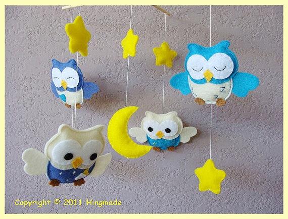 Baby Mobile,Nursery Mobile,Baby Modern Nursery, Owl Mobile ...